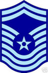 STICKER RANK AIR FORCE E9 CHIEF MASTER SERGEANT