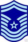 STICKER RANK AIR FORCE E9 CHIEF MASTER SERGEANT