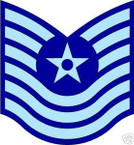STICKER RANK AIR FORCE E7 MASTER SERGEANT