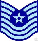 STICKER RANK AIR FORCE E7 MASTER SERGEANT