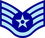 STICKER RANK AIR FORCE E5