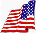 STICKER PATRIOTIC USA FLAG RED WHITE AND BLUE WAVING L
