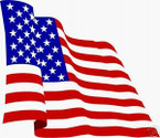 STICKER PATRIOTIC USA FLAG RED WHITE AND BLUE WAVE