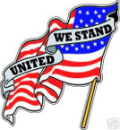 STICKER PATRIOTIC UNITED WE STAND AMERICAN US FLAG2