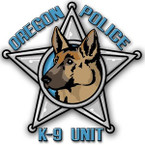 STICKER OREGON K9 POLICE DEPARTMENT