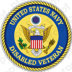 STICKER USN UNITED STATES NAVY DISABLED VETERAN