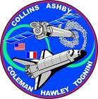 STICKER NASA SPACE SHUTTLE MISSION STS-93