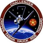 STICKER NASA SPACE SHUTTLE MISSION STS-7