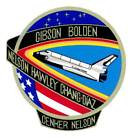 STICKER NASA SPACE SHUTTLE MISSION STS-61C