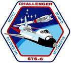STICKER NASA SPACE SHUTTLE MISSION STS-6