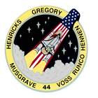 STICKER NASA SPACE SHUTTLE MISSION STS-44