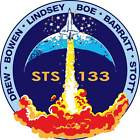 STICKER NASA SPACE SHUTTLE MISSION STS-133