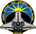 STICKER NASA SPACE SHUTTLE MISSION STS-132