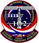 STICKER NASA SPACE SHUTTLE MISSION STS-102