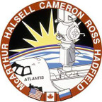 STICKER NASA SPACE SHUTTLE MISSION STS -74