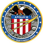 STICKER NASA APOLLO MISSION 16