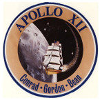 STICKER NASA APOLLO MISSION 12