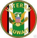 STICKER MILITARY USMC ARMY NAVY Kuwait Veteran