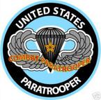 STICKER MILITARY USMC ARMY NAVY COMBAT PARATOOPER