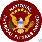 STICKER MILITARY ROTC PHYSICAL FITNESS AWARD