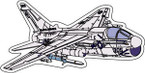 STICKER MILITARY AIRCRAFT A-7 Corsair II