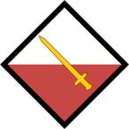 STICKER British SSI - Great Britain - 42nd (NW) Brigade