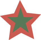 STICKER British SSI - 5-Pointed Star (Driver - Womens Royal Army Corps)