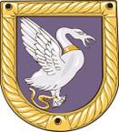 STICKER British Ship Badge - Great Britain - HMS Wild Swan