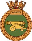 STICKER British Ship Badge - Great Britain - HMS Warspite