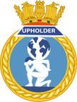 STICKER British Ship Badge - Great Britain - HMS Upholder