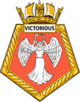 STICKER British Ship Badge - Great Britain - HMS Victorious