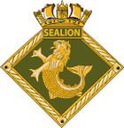 STICKER British Ship Badge - Great Britain - HMS Sea Lion