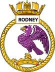 STICKER British Ship Badge - Great Britain - HMS Rodney