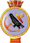 STICKER British Ship Badge - Great Britain - HMS Hood