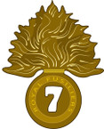 STICKER British DUI - 7th Royal Fusiliers