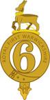 STICKER British DUI - 6th Regiment - Royal 1st Warwickshire