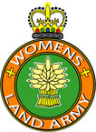 STICKER British Crest - The Womens Land Army