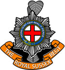 STICKER British Crest - The Royal Sussex Regiment