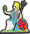 STICKER British Crest - The Royal Norfolk Regiment