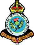 STICKER British Crest - Royal Scots Fusiliers