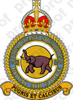 STICKER British Crest - RAF - 249 Squadron