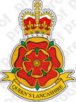 STICKER British Crest - Queens Lanshire Regiment