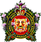 STICKER British Crest - ll and Sutherland Highlanders of Canada (Princess Louise 1920)