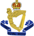 STICKER British Crest - 8th Kings Royal Irish Hussars - 1