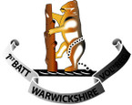 STICKER British Collar Badge - 1st Warwickshire Volunteers