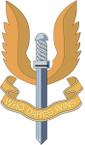STICKER British Badge - Special Air Service Regiment (SAS)