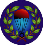 STICKER British Badge - RAF - Parachute Jump Instructors - Brevet - 1943-1945