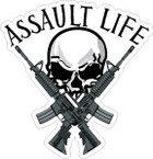 STICKER ATTITUDE ASSAULT LIFE M4 PIC
