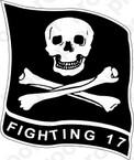 STICKER USN VF 17 FIGHTER SQUADRON FIGHTING