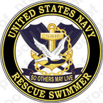 STICKER USN VET US NAVY RESCUE SWIMMER D